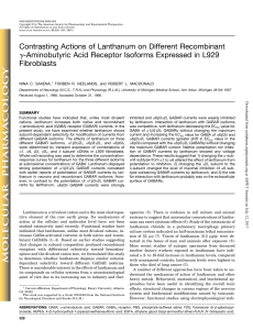 Contrasting Actions of Lanthanum on Different Recombinant