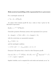 Risk-neutral modelling with exponential Levy processes - Math-UMN