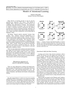Models of Attentional Learning - Indiana University Bloomington