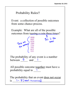Probability Rules! (7.1)