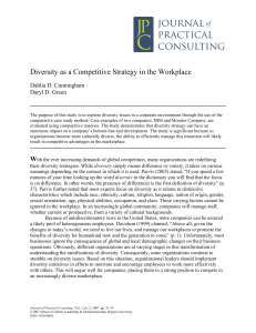 Diversity as a Competitive Strategy in the