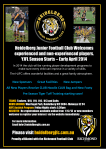 Heidelberg Junior Football Club Welcomes experienced and non