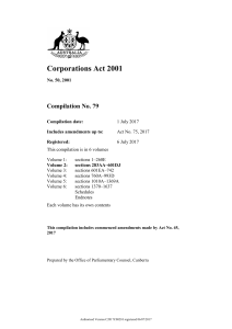 Corporations Act 2001 - Federal Register of Legislation