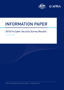 2015/16 Cyber Security Survey Results