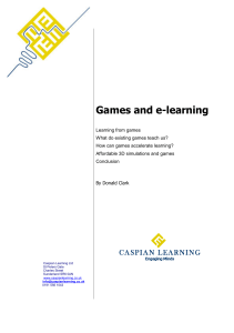 Games and e-learning