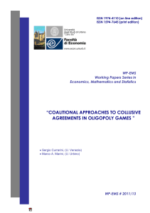 coalitional approaches to collusive agreements in oligopoly games