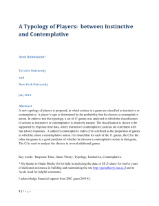 A Typology of Players: between Instinctive and Contemplative