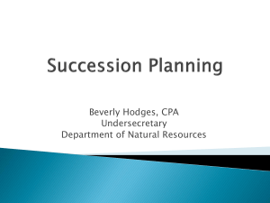 hodges Succession Planning Presentation