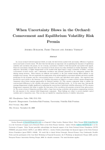 When uncertainty blows in the orchard comovement and equilibrium