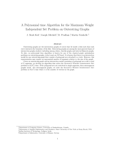 A Polynomial time Algorithm for the Maximum Weight Independent