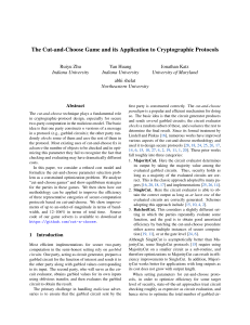 The Cut-and-Choose Game and its Application to Cryptographic