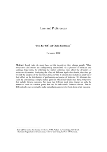 Law and Preferences