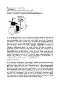 The Affirmative Model of Disability