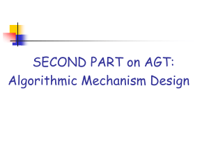 Slides: Algorithmic mechanism design.