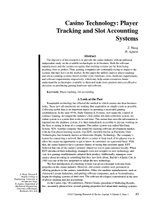Player Tracking and Slot Accounting Systems