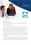 The agility game: Why do financial directors need to adopt the cloud?