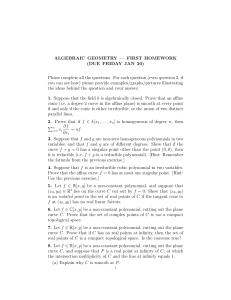 ALGEBRAIC GEOMETRY - University of Chicago Math