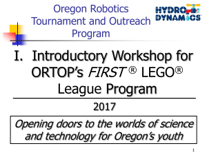 First Annual Oregon Robotics Tournament