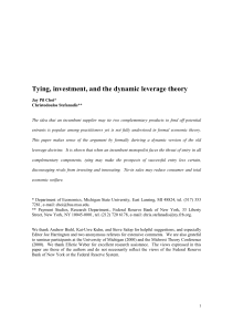 Tying, investment, and the dynamic leverage theory