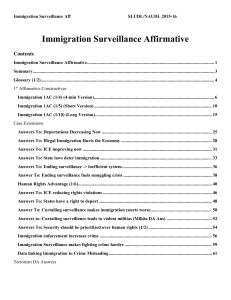 Immigration Surveillance Affirmative