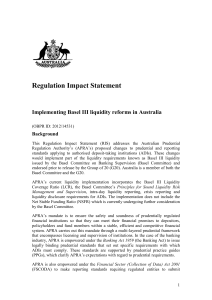 Implementing Basel III capital reforms in Australia