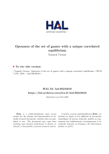 Openness of the set of games with a unique correlated equilibrium