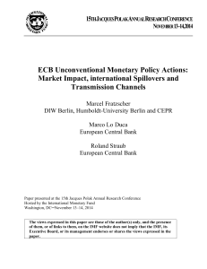 ECB Unconventional Monetary Policy Actions: Market Impact
