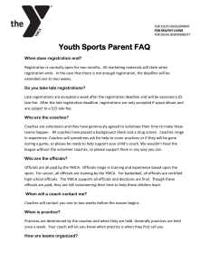 Youth Sports Parent FAQ