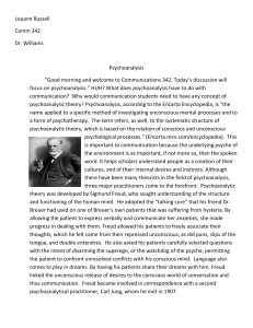 Psychoanalysis - Shepherd Webpages