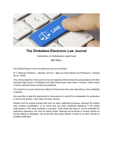 Amendments to the Zimbabwean Labour Act [Chapter 28:01]