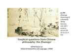 Sceptical questions from Chinese philosophy: the Zhuangzi A/Prof