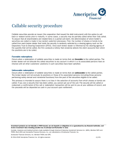 Callable security procedure