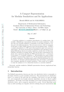 A Compact Representation for Modular Semilattices and its