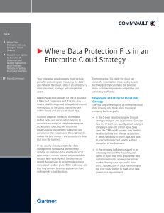 Where Data Protection Fits in an Enterprise Cloud Strategy