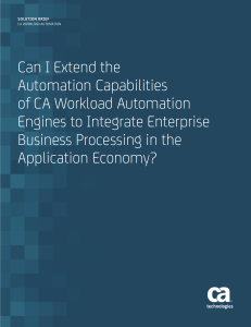 Can I Extend the Automation Capabilities of CA