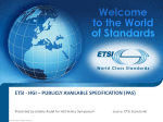 etsi - hgi * publicly available specification (pas)