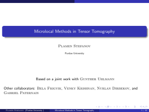Microlocal Methods in Tensor Tomography