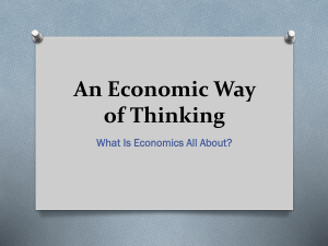 An Economic Way of Thinking