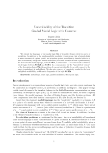 Undecidability of the Transitive Graded Modal Logic with Converse