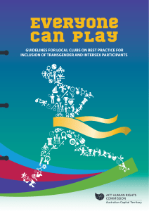 Everyone Can Play: Guidelines for local clubs on best practice for
