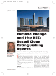 Climate Change and the HFC-Based Clean Extinguishing Agents