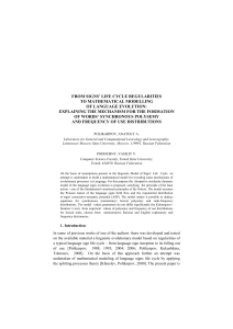 4. Empirical verification of predictions for synchronous polysemy