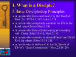 1. What is a Disciple? - The South Devon Methodist Circuit