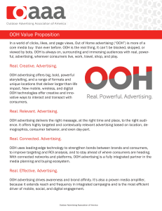 OOH Value Proposition - Outdoor Advertising Association of