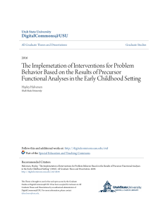 The Implemetation of Interventions for Problem Behavior Based on