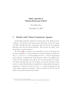1 Model with Time-Consistent Agents