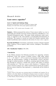 Research Articles Least convex capacitiesw