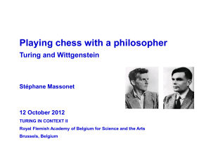 Playing Chess with a Philosopher: Turing and Wittgenstein