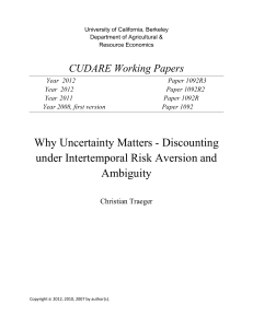 Why Uncertainty Matters - Discounting under Intertemporal Risk