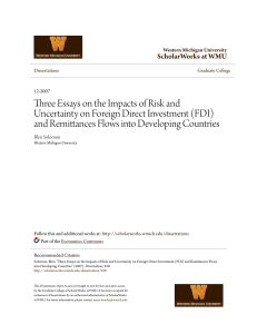 Three Essays on the Impacts of Risk and Uncertainty on Foreign